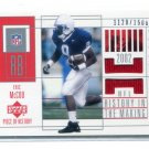 ERIC McCOO 2002 UD Pieces of History RED JERSEY #153 ROOKIE PENN STATE Eagles #d/1500 BV$12