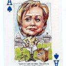 Rare HILLARY CLINTON 2008 '08 Politicards Comic Caricatures ACE SPADES