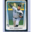 JOSE FERNANDEZ 2011 Bowman Draft Picks & Prospects #BDPP29 ROOKIE Miami Marlins