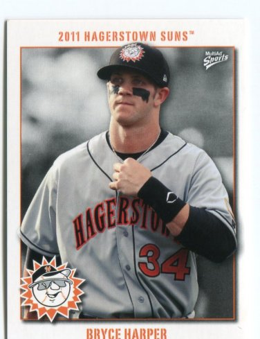 BRYCE HARPER 2011 Hagerstown Suns Minor League PRE-ROOKIE Nationals C