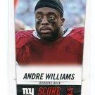 ANDRE WILLIAMS 2014 Score #336 ROOKIE New York NY Giants BOSTON COLLEG