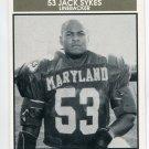 JACK SYKES 1992 Big 33 Maryland MD High School card HOWARD LB