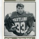MIKE BERTONI 1992 Big 33 Maryland MD High School card WILLIAM & MARY LB