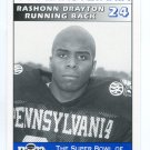 RASHONN DRAYTON 1995 Big 33 Pennsylvania PA High School card ALLENTOWN CENTRAL CATHOLIC HS RB