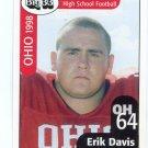 ERIK DAVIS 1998 Ohio OH Big 33 High School card Univ. of OHIO OL