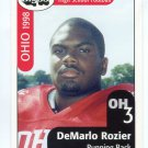 DeMARIO ROZIER 1998 Ohio OH Big 33 High School card KENT STATE RB