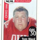 TOM WARD 1998 Ohio OH Big 33 High School card TOLEDO LB