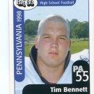 TIM BENNETT 1998 Pennsylvania PA Big 33 High School card WAKE FOREST OL / DL