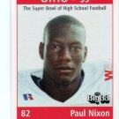 PAUL NIXON 1999 Ohio OH Big 33 High School card MINNESOTA Golden Gophers