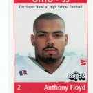 ANTHONY FLOYD 1999 Ohio OH Big 33 High School card LOUISVILLE Cardinals