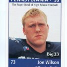 JOE WILSON 1999 Pennsylvania PA Big 33 High School card RICHMOND Central Bucks West HS