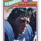 STEVE NIEHAUS 1977 Topps #132 Notre Dame Irish SEAHAWKS