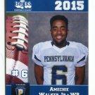 AMECHIE WALKER Jr. 2015 Pennsylvania PA Big 33 High School card HARRISBURG HS New Hampshire