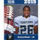 DARON BOONE 2015 Pennsylvania PA Big 33 High School card BLOOMSBURG LB