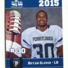 BRYAN GLOVER 2015 Pennsylvania PA Big 33 High School card EASTERN MICHIGAN LB