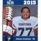 JONAH JACKSON 2015 Pennsylvania PA Big 33 High School card RUTGERS OL