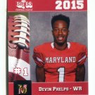 DEVIN PHELPS 2015 Maryland MD Big 33 High School card MONMOUTH
