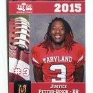 JUSTICE PETTUS-DIXON 2015 Maryland MD Big 33 High School card TOWSON DB