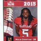 MALIK CHRISTIAN 2015 Maryland MD Big 33 High School card RB