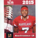 NOAH FITZGERALD 2015 Maryland MD Big 33 High School card FORDHAM LB