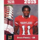 DAVID PINDELL 2015 Maryland MD Big 33 High School card QB