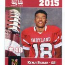 KENJI BAHAR 2015 Maryland MD Big 33 High School card MONMOUTH QB