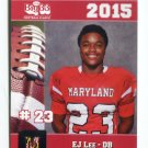 E.J. EJ LEE 2015 Maryland MD Big 33 High School card