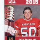 DAVID FORNEY 2015 Maryland MD Big 33 High School card NAVY
