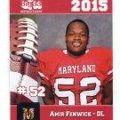 AMIR FENWICK 2015 Maryland MD Big 33 High School card