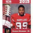 RASHAD MANNING 2015 Maryland MD Big 33 High School card