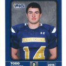 TODD SUMMERS 2016 Pennsylvania PA Big 33 High School card VILLANOVA