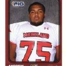 ANDREW GARNETT 2016 Maryland MD  Big 33 High School card TOWSON
