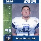 MARK PYLES 2014 Pennsylvania PA Big 33 High School card BUCKNELL QB