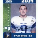 TYLER BURKE 2014 Pennsylvania PA Big 33 High School card MARYLAND Terps FB