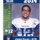 JARED FOLKS 2014 Pennsylvania PA Big 33 High School card TEMPLE Owls