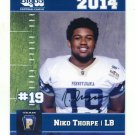 NIKO THORPE 2014 Pennsylvania PA Big 33 High School card