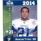MARLON TYREE 2014 Pennsylvania PA Big 33 High School card SLIPPERY ROCK