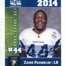 ZAIRE FRANKLIN 2014 Pennsylvania PA Big 33 High School card SYRACUSE ORange LB