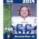 BENJAMIN HUSS 2014 Pennsylvania PA Big 33 High School card DUQUENSE