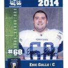 ERIC GALLO 2014 Pennsylvania PA Big 33 High School card VIRGINIA TECH Hokies