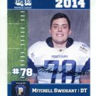 MITCHELL SWEIGART 2014 Pennsylvania PA Big 33 High School card PRINCETON
