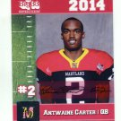 ANTWAINE CARTER 2014 Maryland MD Big 33 High School card UMD TERPS