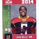 JOSH GILLS 2014 Maryland MD Big 33 High School card DUQUESNE