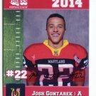 JOSH CONTAREK 2014 Maryland MD Big 33 High School card