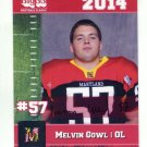 MELVIN GOWL 2014 Maryland MD Big 33 High School card AIR FORCE