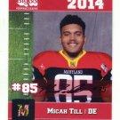 MICAH TILL 2014 Maryland MD Big 33 High School card NORTH CAROLINA NC STATE Wolfpack