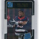 WILL FULLER 2016 Panini Donruss Rated Rookie PRESS PROOF Die Cut SP #400 Notre Dame TEXANS #d/25