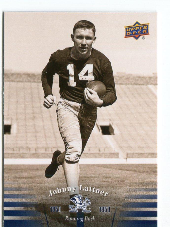 JOHNNY LATTNER 2013 Upper Deck UD Collectible #5 Notre Dame Irish HEISMAN