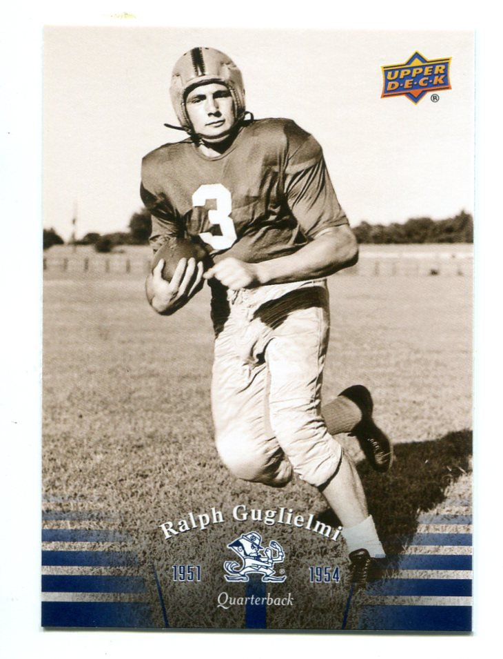 RALPH GUGLIELMI 2013 Upper Deck UD Collectible #6 Notre Dame Irish