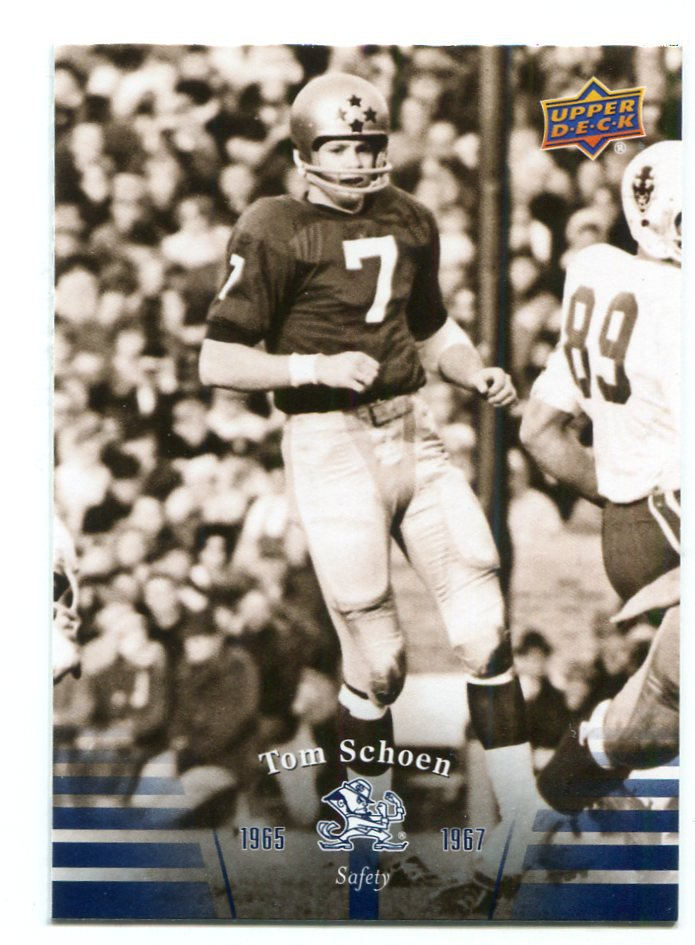 TOM SCHOEN 2013 Upper Deck UD Collectible #15 Notre Dame Irish